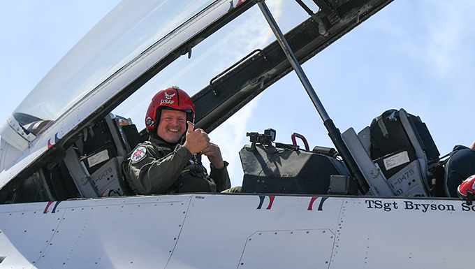 Hometown Hero takes flight with the Thunderbirds