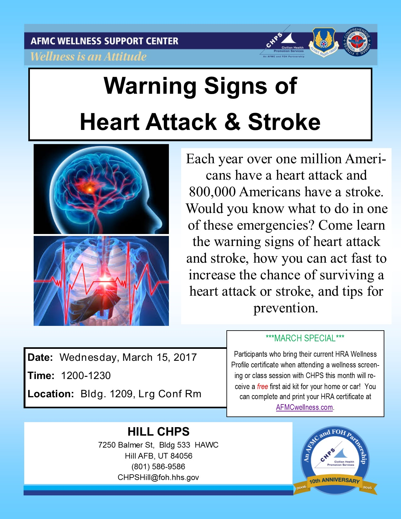 Warning Signs of Heart Attack and Stroke > Hill Air Force